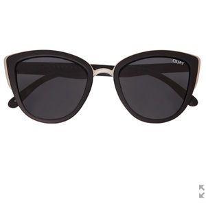 quay my girl black cat eye sunglasses